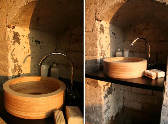 Lavamanos de madera deco vanguardia for Lavamanos rusticos de madera