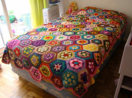 Como tejer un cubrecamas a crochet - Imagui