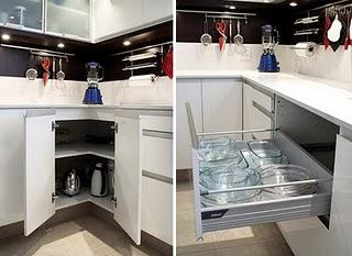 Espacios de guardado en la cocina deco vanguardia - Imagenes de muebles esquineros ...
