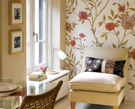 Papel tapiz y pintura en el living deco vanguardia - Papeles decorativos para cocinas ...