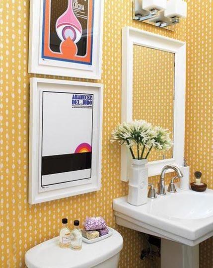 Decorar Baño Amarillo:Baños románticos de todos los colores – Deco Vanguardia