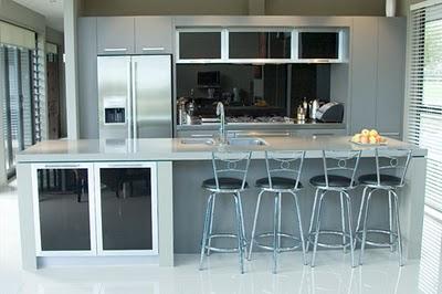 Cocinas con desayunadores deco vanguardia for Desayunadores de concreto