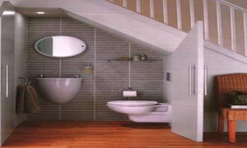 Baño Debajo De Escalera Con Ducha:de colocar un pequeño sanitario debajo de la escalera me pareció de