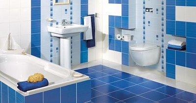 Inspiraci n celeste y azul en el ba o deco vanguardia - Banos con azulejos azules ...