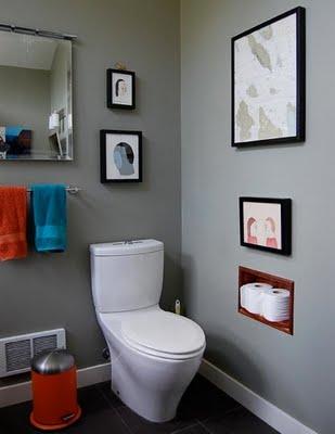 Ba os estilos color gris en los ba os - Cuadros para el bano modernos ...