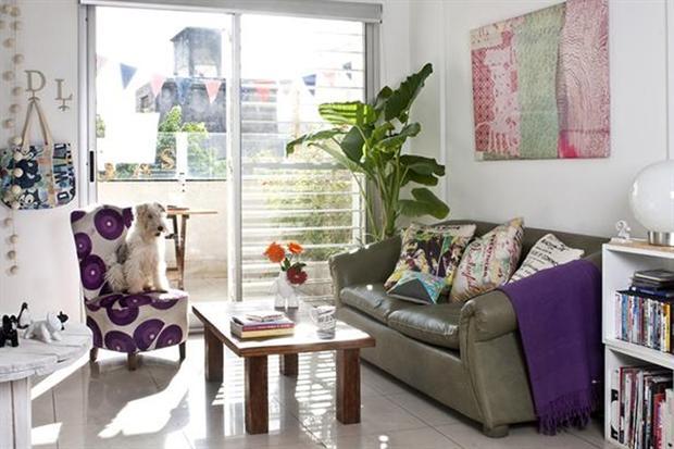 Decoracion de living estilo vintage for Living estilo romantico