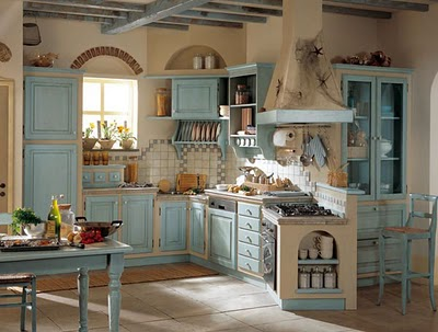 Decoraci n de cocinas al estilo country deco vanguardia for Muebles estilo country