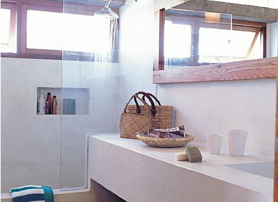 Cemento alisado en el ba o deco vanguardia for Concreto de cera en los azulejos del bano