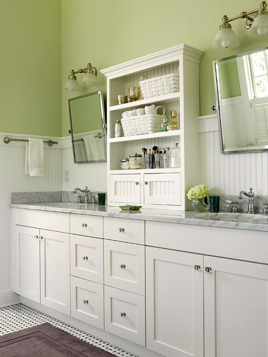 Baño Estilo Campestre:Green Bathroom Idea