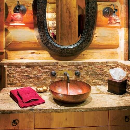 Iluminacion Baño Rustico:Estilo rústico en el baño – Deco Vanguardia