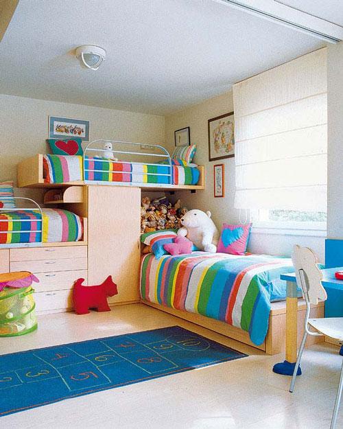 Dormitorios infantiles para 3 deco vanguardia for Deco dormitorios infantiles