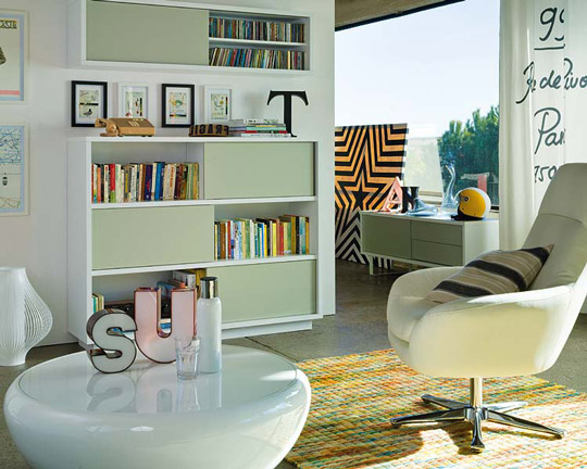Bibliotecas en el living deco vanguardia - Librerias salon modernas ...