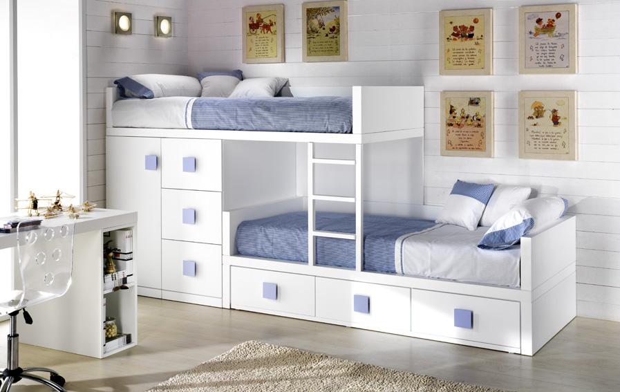 Camas nido para ahorrar espacio deco vanguardia - Camas dobles infantiles para espacios reducidos ...