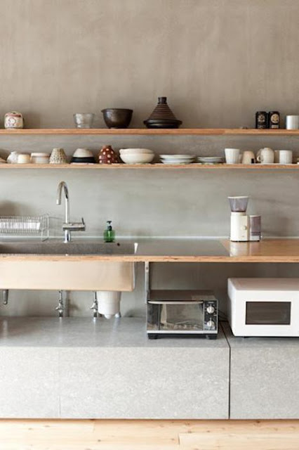 Cocinas con estantes deco vanguardia - Estantes de cocina ...