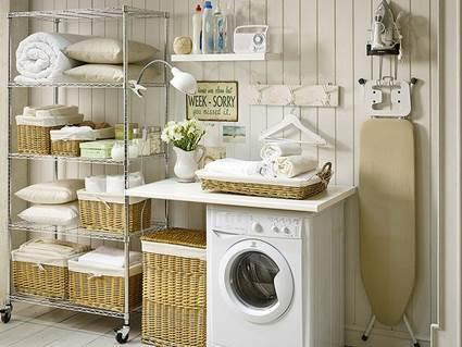 Estilo rom ntico en el lavadero deco vanguardia for Ideas para lavaderos de casas