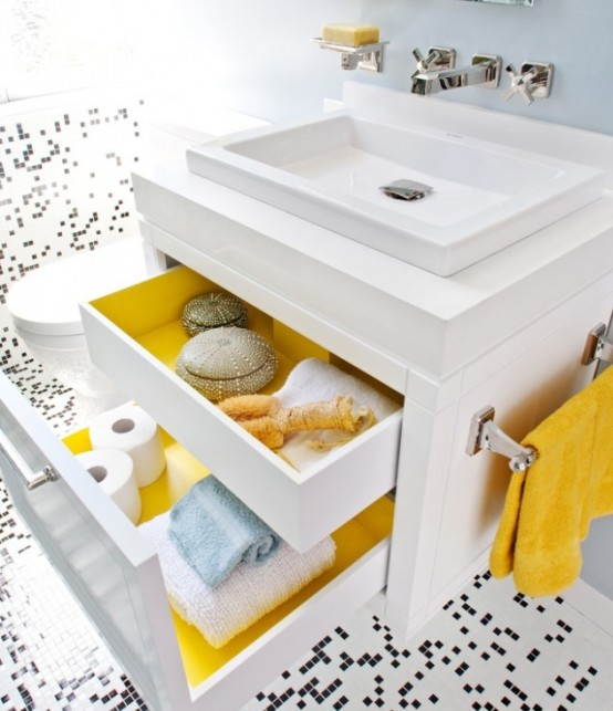 Baño Amarillo Decoracion:Bathroom Paint Inside Drawers