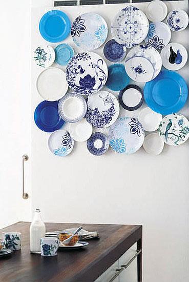 platos azules