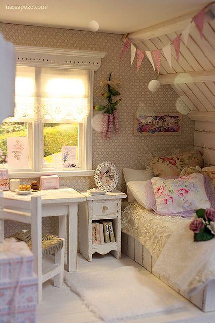 Dormitorios infantiles en clave shabby chic deco vanguardia - Dormitorio shabby chic ...