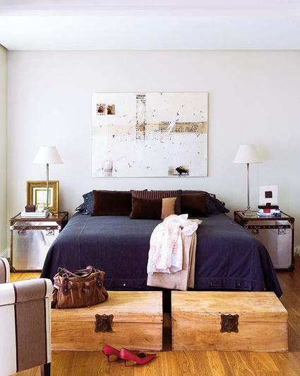 Almacenaje en el dormitorio un mundo de posiblidades deco vanguardia - Baules para dormitorios ...