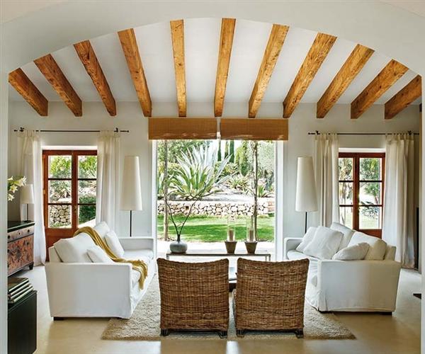 Techos vigas que decoran deco vanguardia - Vigas para techo ...