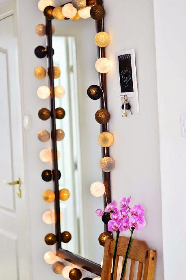Ideas para decorar con guirnaldas de luces deco vanguardia - Luces para espejos ...